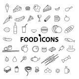 Food icons set. Vector illustration. Royalty Free Stock Photography