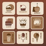 Food icons set. Vector symbols. Stock Photography