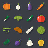 Food Icons Set Vegetables Symbols Healthy and Stock Image