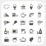 Food icons set on white background Stock Image