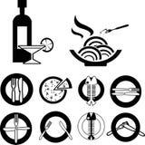 Food icons Stock Image