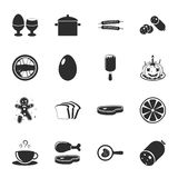 Food 16 icons universal set for web and mobile. Flat Royalty Free Illustration