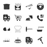 Food 16 icons universal set for web and mobile Stock Photos
