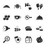 Food 16 icons universal set for web and mobile Stock Images