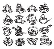 Food icons. Vector illustration. Food icons.  authors illustration in vector Royalty Free Stock Photos