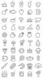 Food icons. Vector illustration. This is file of EPS8 format Royalty Free Stock Photography
