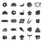 Food icons on white background Royalty Free Stock Photo