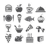 Food Icons. On white background Stock Photos