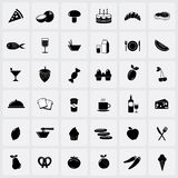 Food icons on white background. Vector illustration: food icons isolated on white background Stock Photo