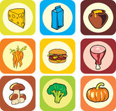 Food icons. For you design royalty free illustration