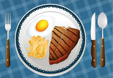A food. Illustration of a food on a blue background Royalty Free Stock Photos