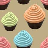 Food Illustration Of Cupcake Stock Photo