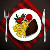 Food illustration. Royalty Free Stock Images