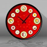 Food Illustration, Japanese dishes. Royalty Free Stock Photo