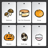 Food illustration vocabulary card Stock Photo