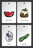 Food illustration vocabulary card Royalty Free Stock Photo