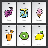 Food illustration vocabulary card Royalty Free Stock Photography