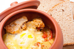 Food In Pot Stock Photography