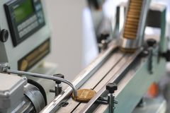 Food industry equipment. For biscuit production royalty free stock photos