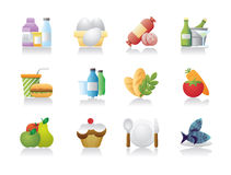 Food Industry Icons Stock Images