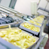 Food industry. Machine for the production of pasta Royalty Free Stock Photo