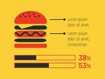 Food Infographic Element Royalty Free Stock Photos
