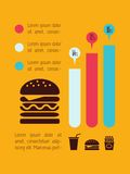 Food Infographic Element Stock Photography