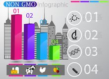 Food infographic element. Health concept. Vector illustration Royalty Free Stock Image