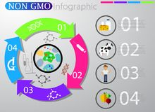 Food infographic element. Health concept. Vector illustration Royalty Free Stock Photo