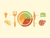 Food Infographic Elements. Stock Image