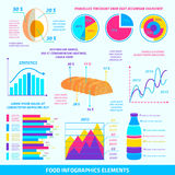 Food infographic elements Stock Photo
