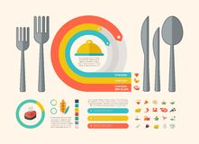 Food Infographic Elements. Royalty Free Stock Photo