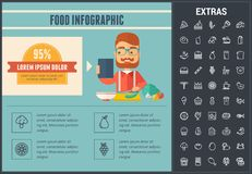 Food infographic template, elements and icons. Royalty Free Stock Photo
