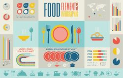 Food Infographic Template. Royalty Free Stock Photography