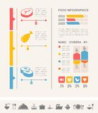 Food Infographic Template. stock illustration