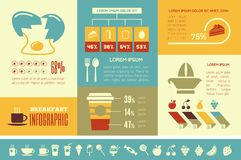 Food Infographic Template. Stock Image