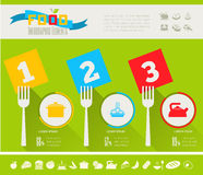 Food Infographic Template. Stock Photos