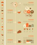 Food Infographic Template. Stock Photography