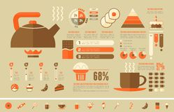 Food Infographic Template. Royalty Free Stock Photo
