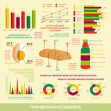 Food infographics flat design elements Stock Photo