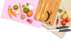 Food ingredient and copy space Royalty Free Stock Images