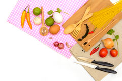 Food ingredient and copy space Stock Image