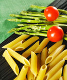 Food Ingredient - Pasta. And Vegetable Stock Photography