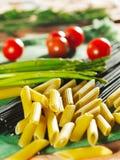 Food Ingredient - Pasta. And Vegetable Stock Image