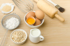 Food ingredient. And recipe for backing Royalty Free Stock Photo