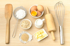 Food ingredient and recipe for backing Stock Image