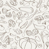 Food ingredient seamless background. Vegetable pattern. Royalty Free Stock Image