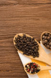 Food ingredient and spices on wood Royalty Free Stock Photo