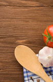 Food ingredient and spices on wood Stock Photography