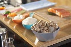Food ingredient in spoon. Royalty Free Stock Image
